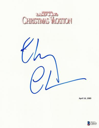 Chevy Chase Signed Christmas Vacation Script Full 136 Page Screenplay Beckett