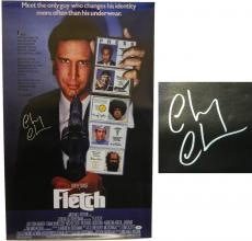 Chevy Chase Signed Fletch 22x35 Full Size Movie Poster