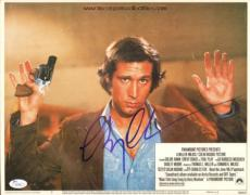 CHEVY CHASE signed Foul Play Original Lobby Card-JSA I61478