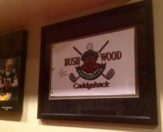 Chevy Chase Signed Framed Suede Official Bushwood Bush Wood Caddyshack Flag PSA