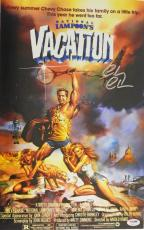 Chevy Chase Signed National Lampoon's Vacation 11x17 Movie Poster