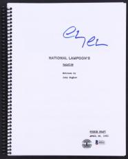 Chevy Chase Signed National Lampoons Vacation Full Movie Script Beckett I49227