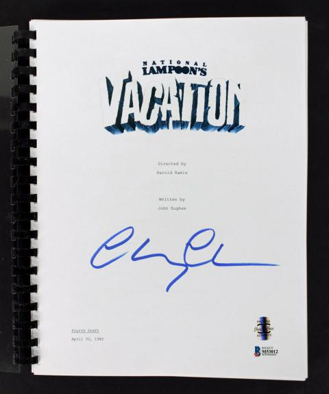 Chevy Chase Signed National Lampoon's Vacation  Movie Script BAS Witness #M53012