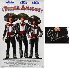 Chevy Chase Signed Three Amigos 27x40 Full Size Movie Poster