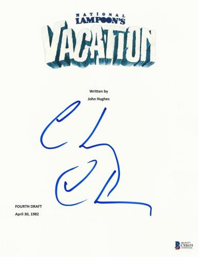 Chevy Chase Signed Vacation Script Full 126 Page Screenplay Authentic Auto Bas
