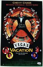 CHEVY CHASE Signed Vegas Vacation 11x17 Photo *FULL NAME AUTO* ~ PSA/DNA COA