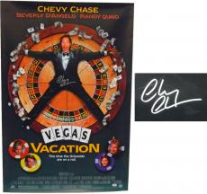 Chevy Chase Signed Vegas Vacation 27x40 Full Size Movie Poster