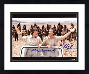 "Chevy Chase Spies Like Us ""We're Americans!"" Signed 11x14 Photo BAS #M50469"