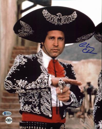 Chevy Chase Three Amigos! Signed 11x14 Photo BAS Witnessed #M54222