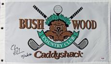 "Chevy Chase ""Ty Webb"" Caddyshack Signed Bushwood Country Club Flag PSA/DNA ITP"
