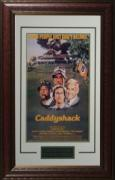 Chevy Chase unsigned Caddyshack Vintage Golf Movie Poster Leather Framed 20x28 (entertainment/photo)