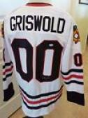 Chevy Chase Vacation Griswold Signed Blackhawks Hockey Jersey PSA Certified