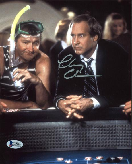 Chevy Chase Vegas Vacation Signed 8x10 Photo BAS Witnessed 14