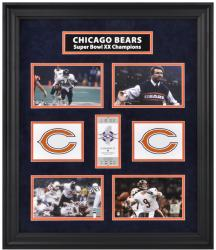 Chicago Bears Framed Super Bowl XX Photograph Collage-Limited Edition of 1000 - Mounted Memories
