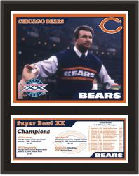 "Chicago Bears SB XX Champs Sublimated 12"" x 15"" Plaque - Mounted Memories"