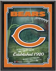 "Chicago Bears Team Logo Sublimated 10.5"" x 13"" Plaque - Mounted Memories"