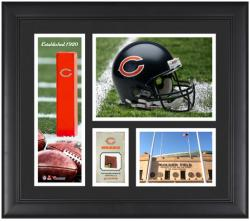 Chicago Bears Team Logo Framed 15'' x 17'' Collage with Game-Used Football - Mounted Memories