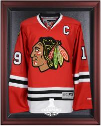 Chicago Blackhawks 2015 Stanley Cup Champions Brown Framed Jersey Display Case