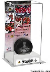 Chicago Blackhawks 2015 Stanley Cup Champions Logo Deluxe Puck Display Case