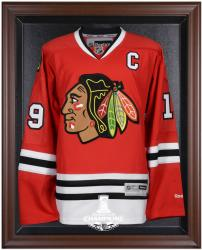 Chicago Blackhawks 2015 Stanley Cup Champions Mahogany Framed Jersey Display Case