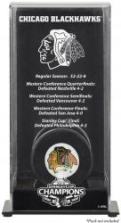 Chicago Blackhawks 2010 Stanley Cup Champions Puck Display Case - Mounted Memories