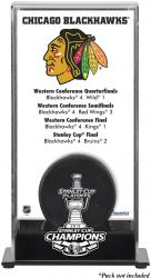 Chicago Blackhawks 2013 Stanley Cup Champions Logo Standard Puck Display Case - Mounted Memories