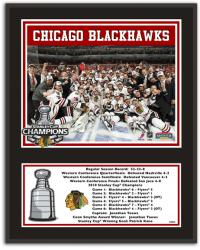 "Chicago Blackhawks 2010 Stanley Cup Champions 12"" x 15"" Plaque with 8"" x 10"" Photo and Plate"