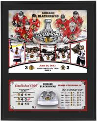 Chicago Blackhawks 2013 Stanley Cup Champions Sublimated 12x15 Plaque with Game Used Ice