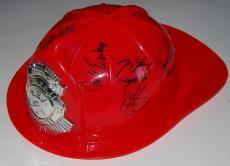 CHICAGO FIRE cast signed (FIRE HELMET) W/COA (10 AUTOGRAPHS) Kinney Spencer
