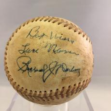 Chicago Mayor Richard J. Daley (Dec. 1976) Signed Autographed Baseball JSA COA