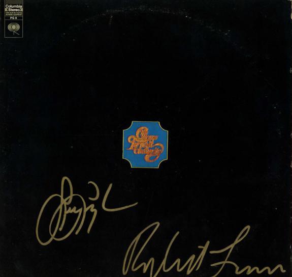 Chicago Robert Lamm Lee Loughnane Signed Album Cover Transit Authority  AFTAL UA