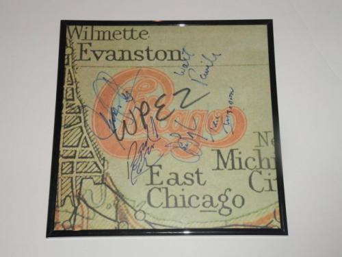 "Chicago Signed Framed ""take Me Back To Chicago"" Lp Album Pankow 4x"