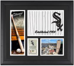 """Chicago White Sox Team Logo Framed 15"""" x 17"""" Collage with Piece of Game-Used Ball"""