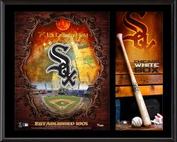 Chicago White Sox Sublimated 12'' x 15'' Team Logo Plaque - Mounted Memories