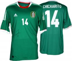Javier Hernandez Autographed Jersey - Chicharito Mexico Green Back Mounted Memories