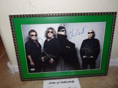 Chickenfoot Signed Auto'd Framed 12X18 Photo PSA Certified Van Halen Sammy Hagar