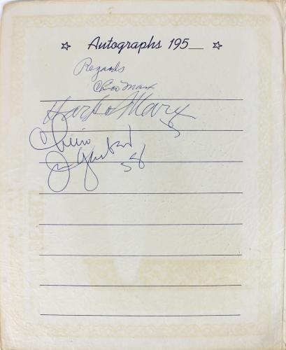 Chico Marx & Harpo Marx Signed 9.5x12 Roosevelt Hotel Program BAS #A86822