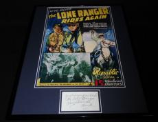 Chief Thundercloud Signed Framed 16x20 Photo Poster Display Lone Ranger
