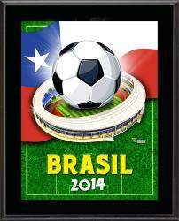 """Chile 2014 Brazil Sublimated 10.5"""" x 13"""" Plaque"""