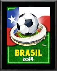 "Chile 2014 Brazil Sublimated 10.5"" x 13"" Plaque"