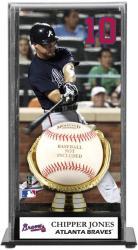 Chipper Jones Atlanta Braves Baseball Display Case with Gold Glove & Plate