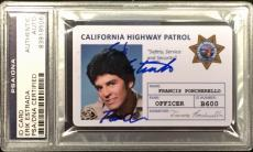 "'Chips' Erik Estrada Signed CHP ID Card Francis 'Ponch"" Poncherello PSA"