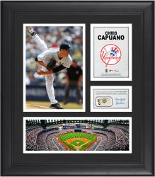 Chris Capuano New York Yankees Framed 15'' x 17'' Collage with Piece of Game-Used Ball