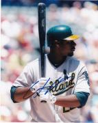 CHRIS CARTER   OAKLAND  A'S   ACTION SIGNED 8x10