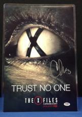Chris Carter Signed Mini X-Files Poster 12x18 Photo - PSA/DNA # AA62986