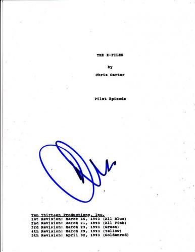 Chris Carter Signed X-files 59 Page Pilot Script Authentic Autograph Coa