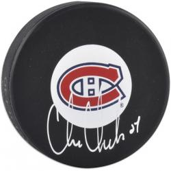 Chris Chelios Autographed Puck - Mounted Memories