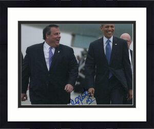 CHRIS CHRISTIE SIGNED AUTOGRAPH 11x14 PHOTO - GOVERNOR, 2020, BARACK OBAMA TRUMP