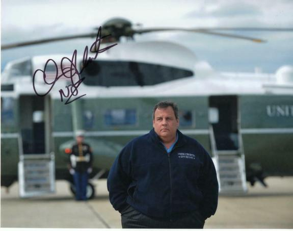 CHRIS CHRISTIE SIGNED AUTOGRAPH 11x14 PHOTO - GOVERNOR, 2020, DONALD TRUMP A