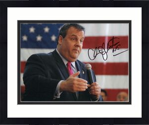 CHRIS CHRISTIE SIGNED AUTOGRAPH 11x14 PHOTO - GOVERNOR, 2020, DONALD TRUMP B